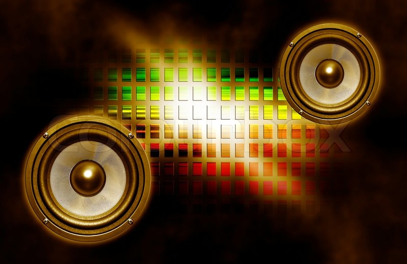 Two Speakers On Abstract Background Stock Photo Colourbox