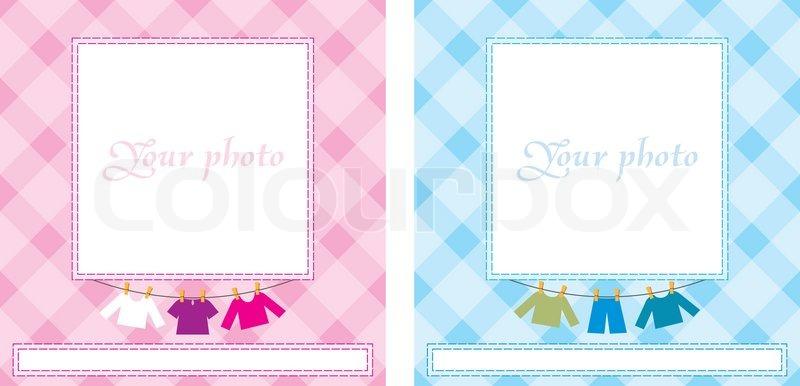 Baby Photo Frame Stock Vector Colourbox