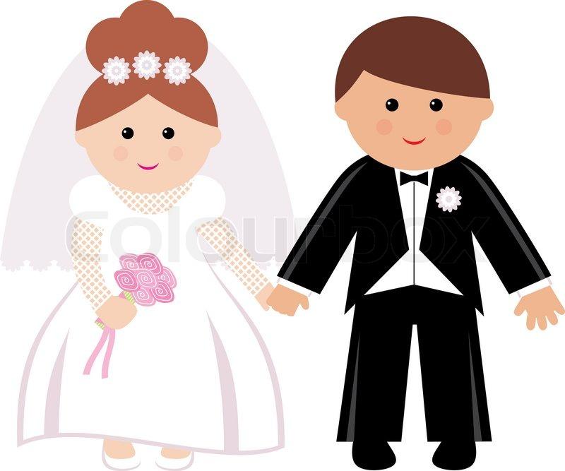 Stock vector of cartoon wife husband