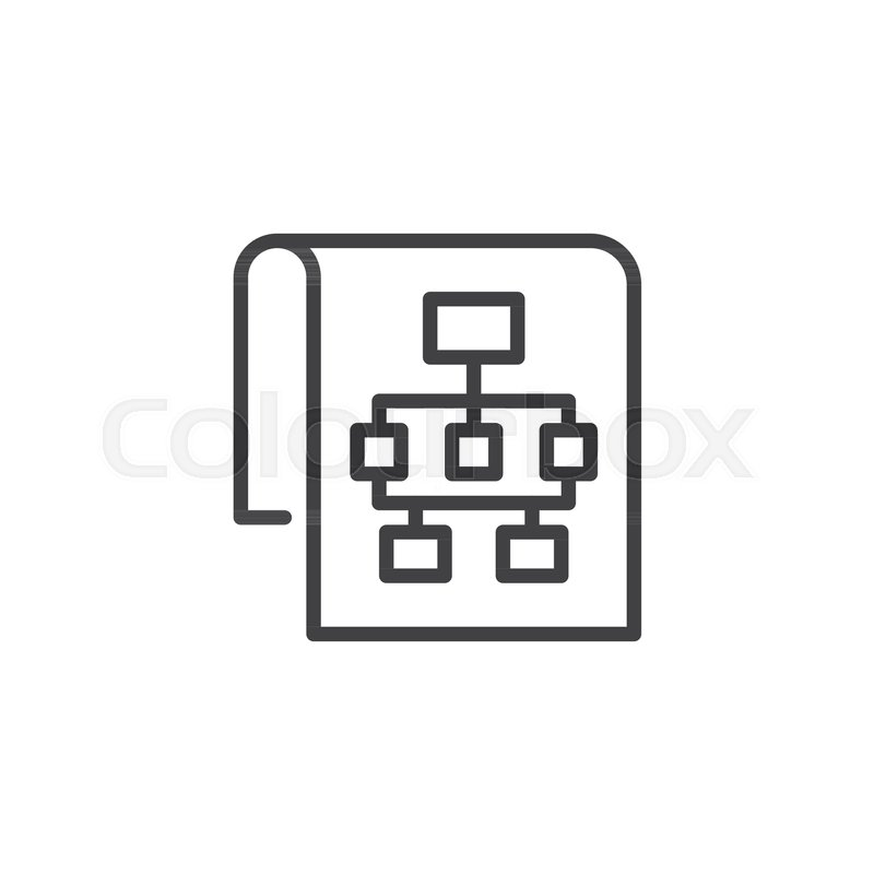 Sitemap Outline Icon Linear Style Sign For Mobile Concept And Web