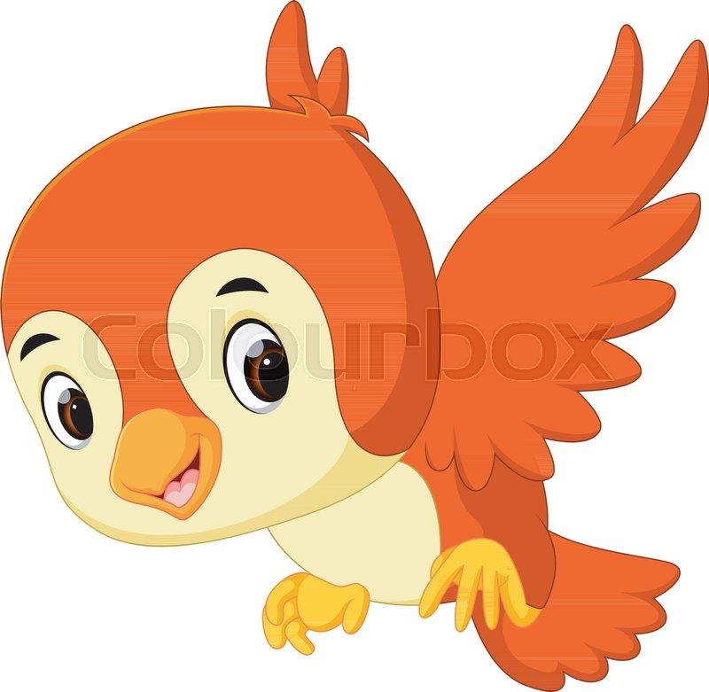 Illustration Of Cute Bird Cartoon Stock Vector Colourbox