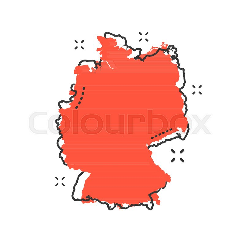 Country Of Germany Map.Cartoon Germany Map Icon In Comic Stock Vector Colourbox