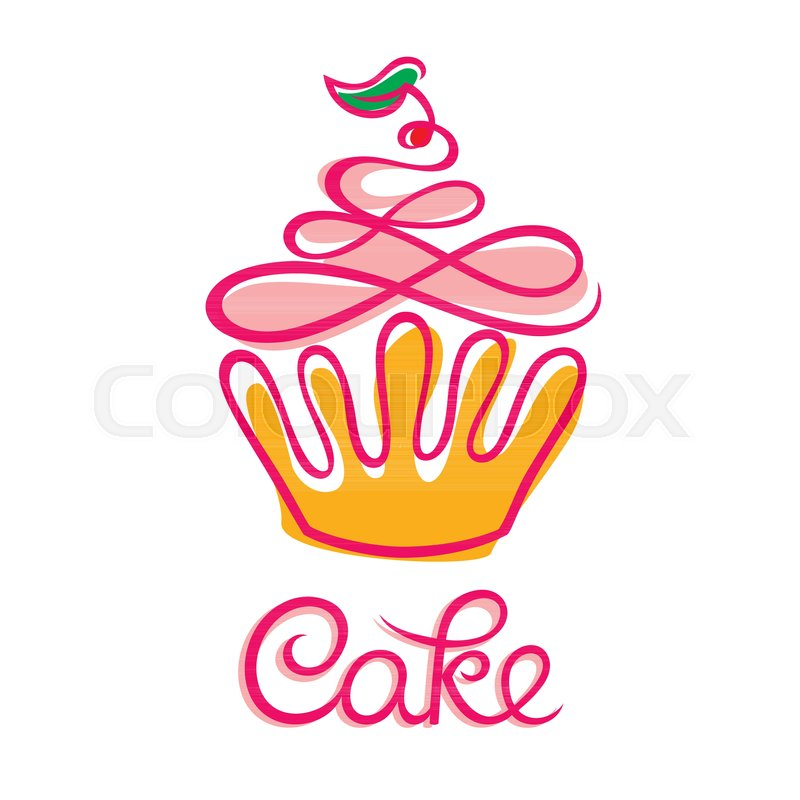 Cake Cafe Or Bakery Logo Design Stock Vector Colourbox