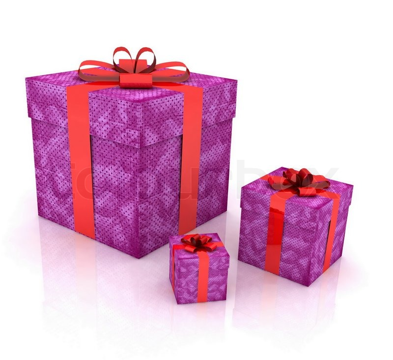 Beautiful gift boxes on a white background | Stock Photo | Colourbox