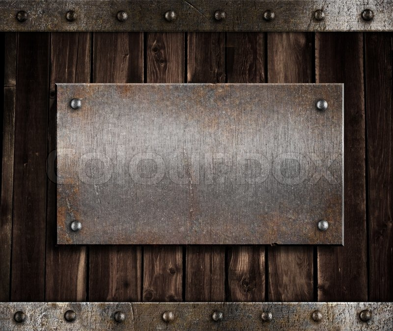 On Old Wooden Wall Or Door Stock Photo Colourbox
