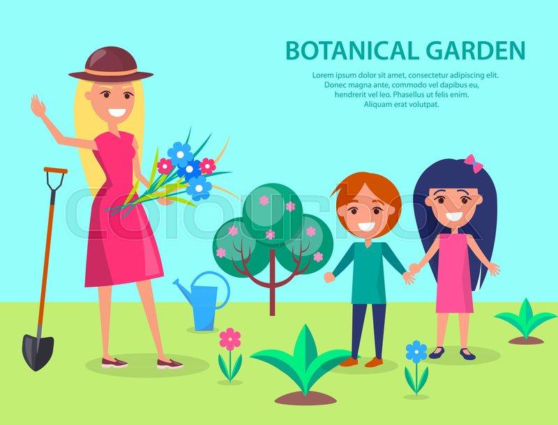 Botanical Garden Illustration With Stock Vector Colourbox