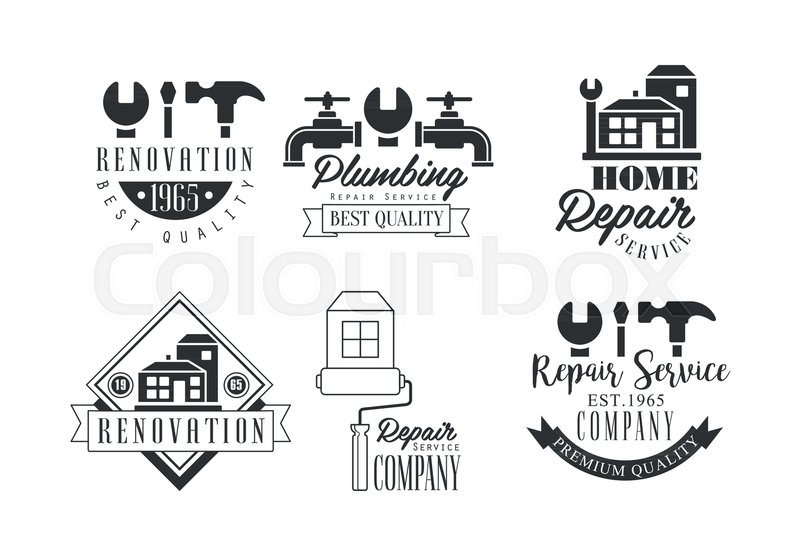 Monochrome Logo Templates For Stock Vector Colourbox