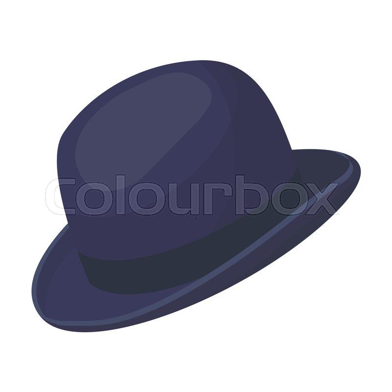 4e18c3ee33f0b Bowler hat icon in cartoon design ...