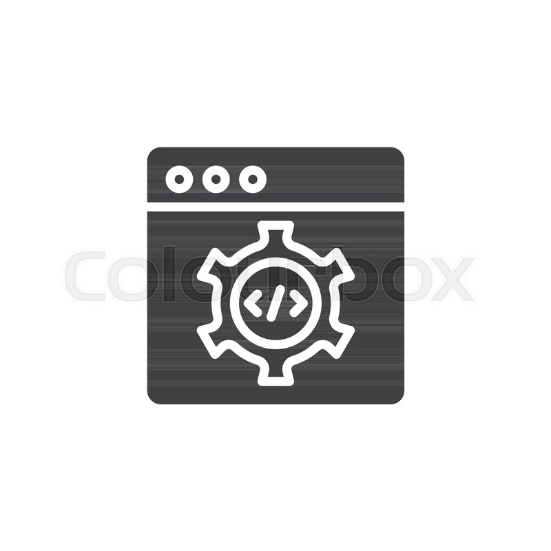 Code terminal vector icon  filled flat     | Stock vector