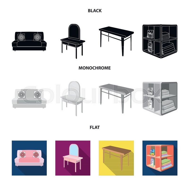 Superb Soft Sofa Toilet Make Up Table Stock Vector Colourbox Cjindustries Chair Design For Home Cjindustriesco