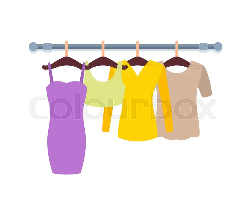0181023abf2 Clothes hanging in hangers in Women ...