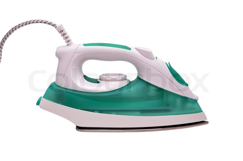 Modern Electric Iron Isolated On The White Background