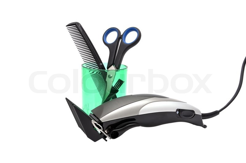 Hair Clippers Vector Hair clipper, comb and