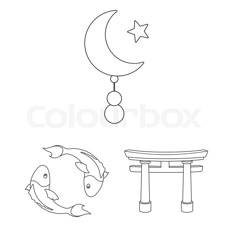 Religion and belief outline icons in       Stock vector   Colourbox