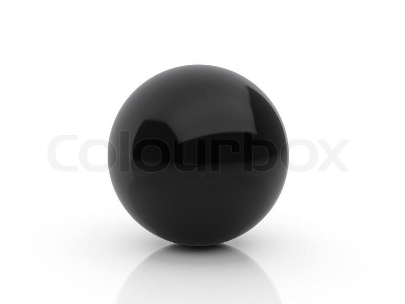 High Resolution Image Black Sphere 3d Stock Image