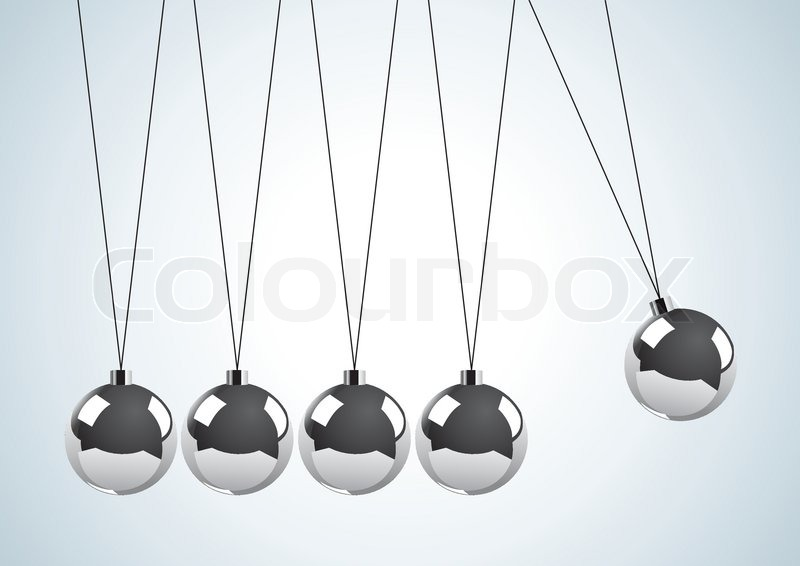 illustration of a pendulum with metal balls