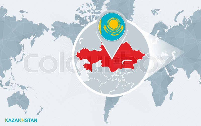 World Map Centered On America With Stock Vector Colourbox