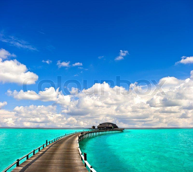 Seascape Beach Resort >> Turquoise sea with beautiful blue sky | Stock Photo | Colourbox
