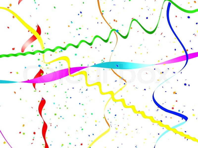 Abstract Background From A Serpentine And Confetti Stock