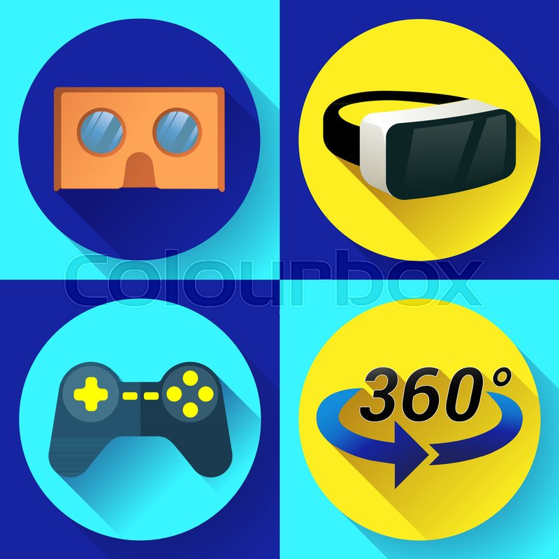 68f6e216ca4 VR Glasses icon or virtual reality ...