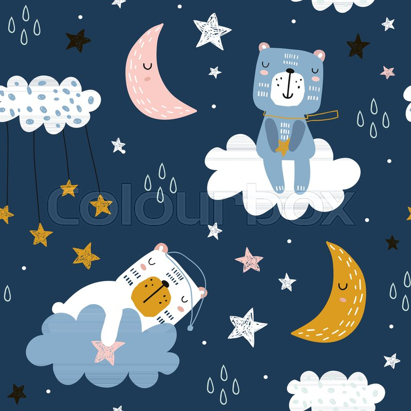 Night Wallpaper Background With Moon And Stars, Night Wallpaper, Stars  Background, Blue Night Background Image for Free Download