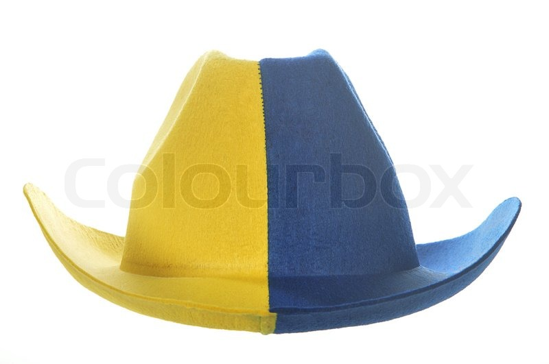 A yellow-blue cowboy hat b098140cc29