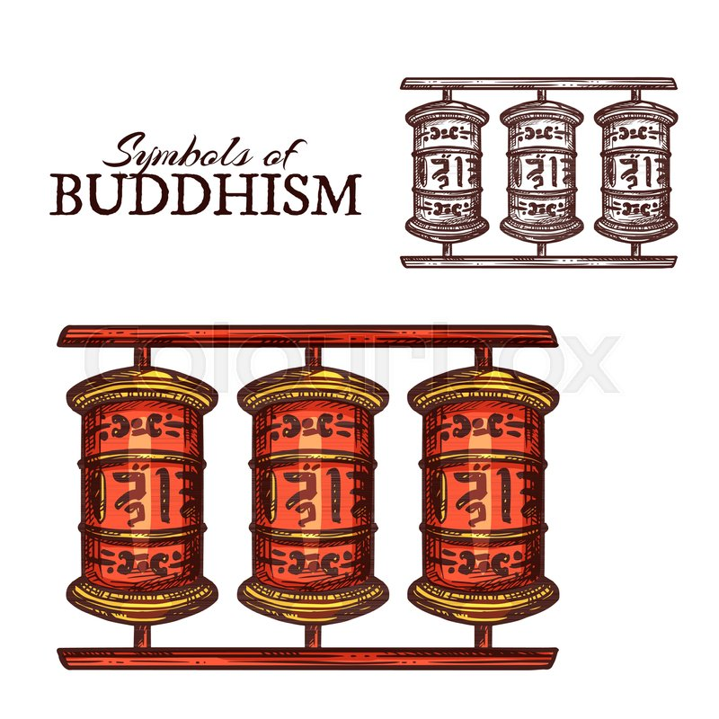 Buddhism religion symbol of Tibetan     | Stock vector | Colourbox