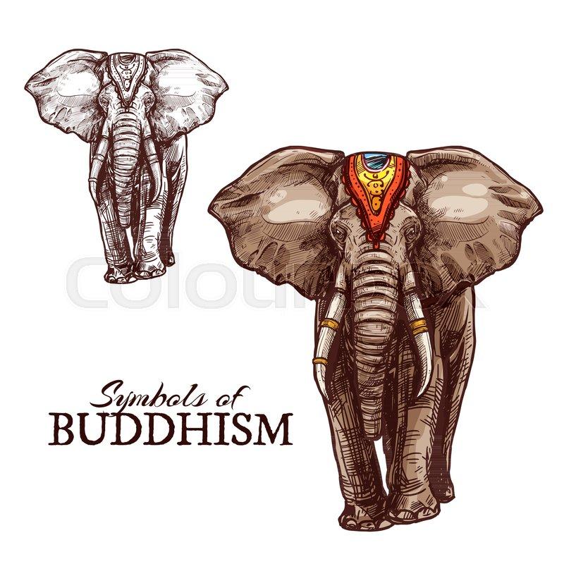 Indian Elephant Sketch Of Buddhism Religion Animal Elephant Animal