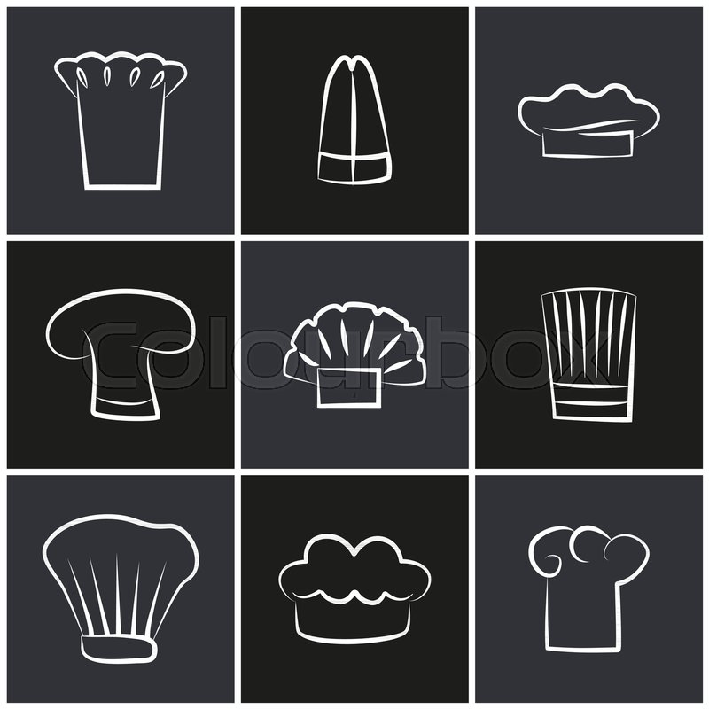 Variety of chef hats fa025aed24b4