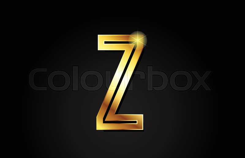 Gold alphabet letter z logo design     | Stock vector