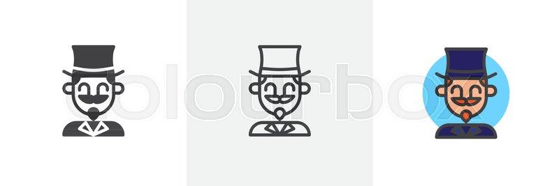 Astonishing Magician Circus Actor Icon Line Stock Vector Colourbox Download Free Architecture Designs Licukmadebymaigaardcom