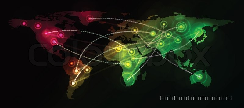 A world map background with flight paths or trade routes stock illustration world map on black gumiabroncs Choice Image