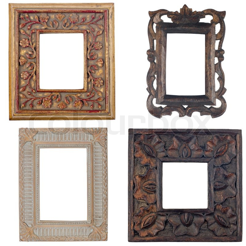 Rustic Interior Design Wiki Picture Ideas With Headboard Pla On Four Antique Frames Isolated