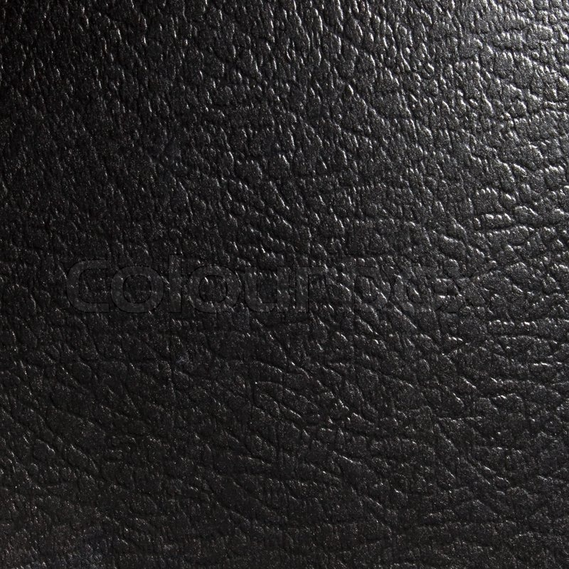 Black Unnatural Leather Texture For Stock Photo