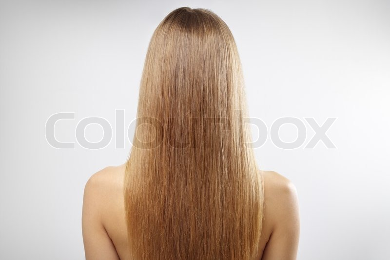 Girl With Beautiful Straight Hair On A Stock Photo Colourbox