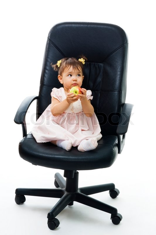 Strange Little Boss Baby In Of Office Chair Stock Image Interior Design Ideas Apansoteloinfo