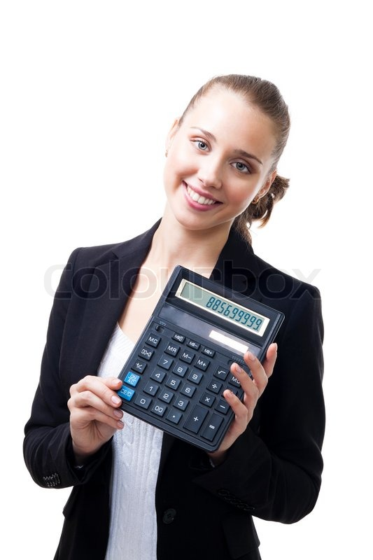People Calculator Confident Stock Photo Colourbox