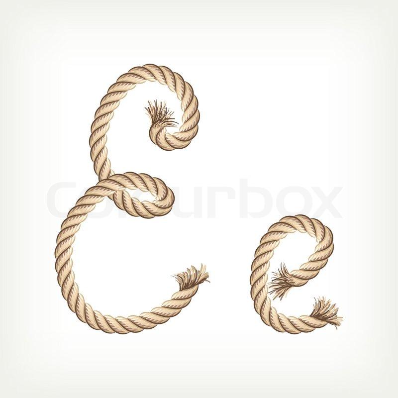 Rope alphabet letter e stock vector colourbox rope alphabet letter e vector altavistaventures Images