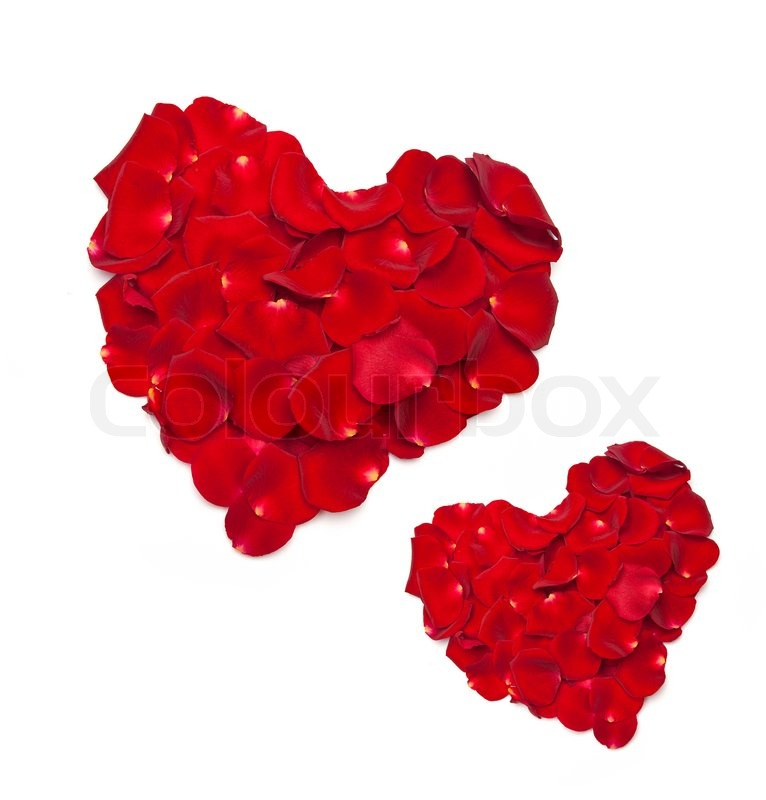 Heart Shape Made From Red Rose Petals Stock Images, Royalty-Free ...