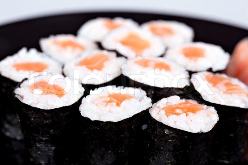 Japan traditionelles essen diferent sushi stockfoto for Traditionelles japan