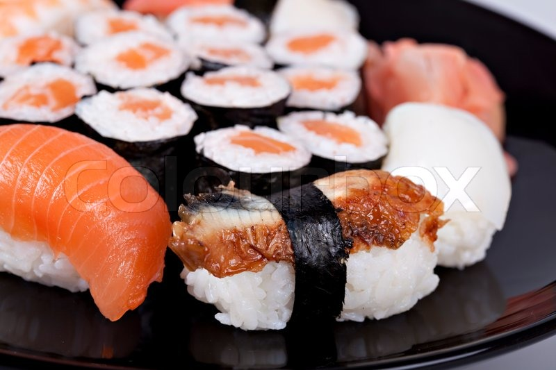 Japan traditional food diferent sushi stock photo for Authentic japanese cuisine