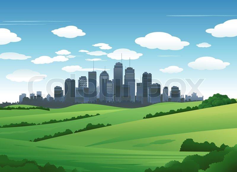 Stock image of 'suburban cityscape landscape nature background'