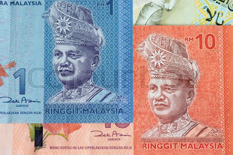 Banknotes of the Malaysia (1 and 10     | Stock image | Colourbox