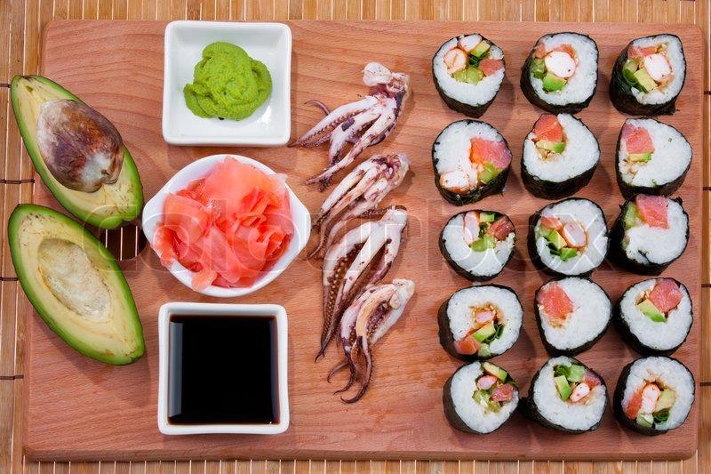 Japanese Sushi Traditional Japanese Food Home Sushi