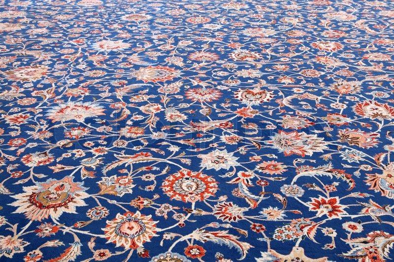 Schönen Teppich Innenseite der Sultan Qaboos Grand Mosque