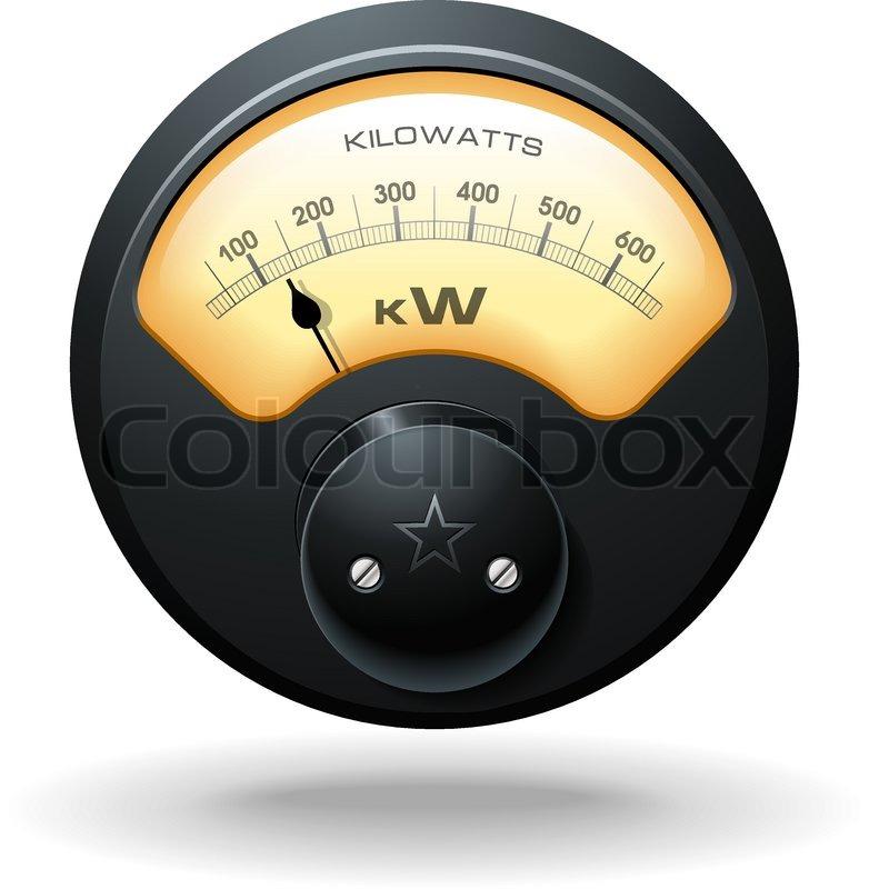 Watt Draw Meter: Analog Electrical Hydro Power Meter