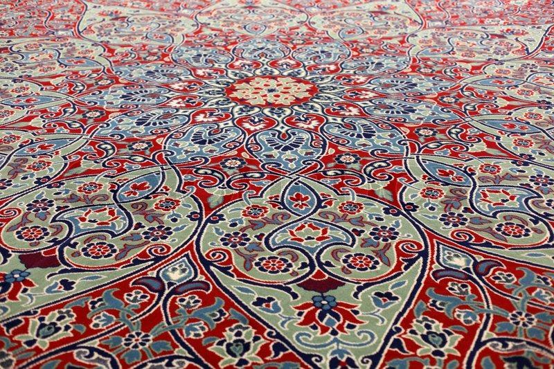 Handmade Carpet At The Grand Bazaar In Istanbul Turkey Stock