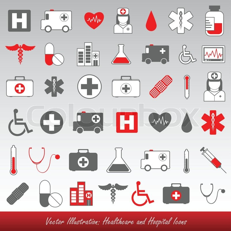 Medical Icons And Symbols Healthcare Stock Vector Colourbox