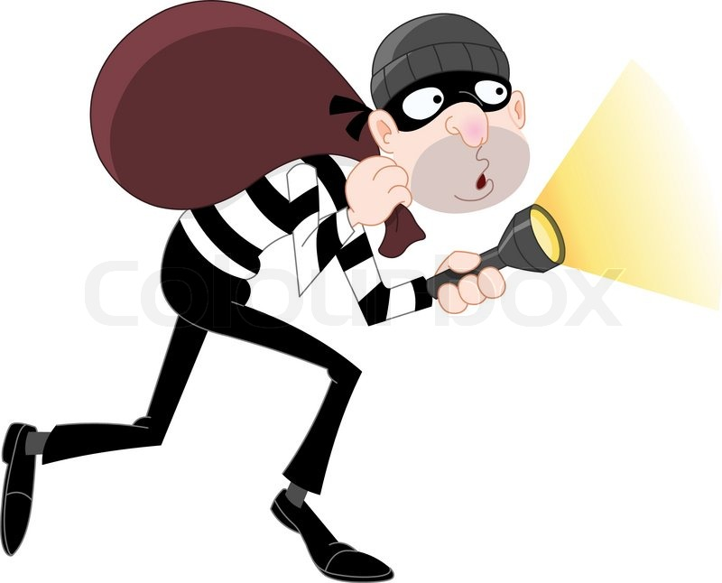 sneaking thief stock vector colourbox Police Lights Background Police Radio Clip Art