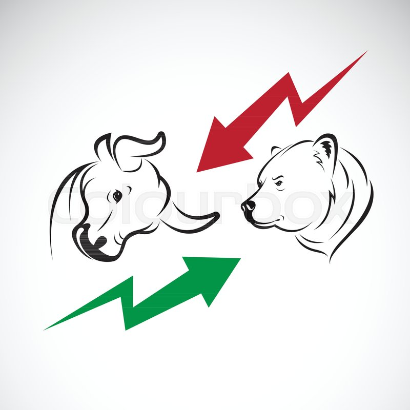Vector Of Bull And Bear Symbols Of Stock Market Trends The Growing